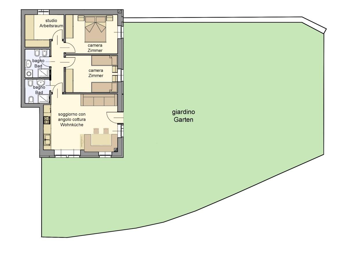 Appartamento thomashof 1 alpenraum appartamenti a for Costo per costruire un appartamento garage per 2 auto